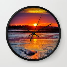 Reflective Evenings Wall Clock
