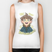 dangan ronpa Biker Tanks featuring mokoto naegi- you must not lose hope shirt by zamii070