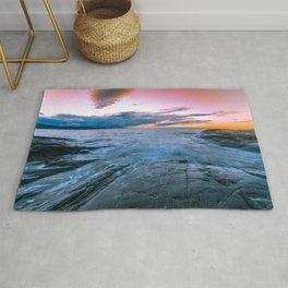 Arctic sunset Rug