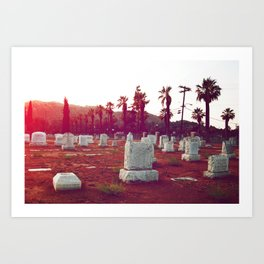 The death of California Art Print