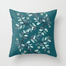 Frost Branches Throw Pillow