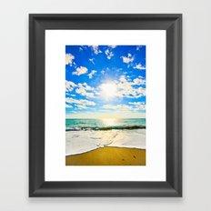 Ft. Pierce Florida Beach Morning Sun Framed Art Print