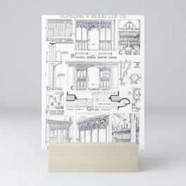 B Fletcher - History of Architecture (1946) - Screens & Rood Lofts Mini Art Print