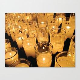 New Orleans Votive Church Candles Canvas Print