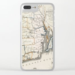 Map of Rhode Island 1818 Clear iPhone Case