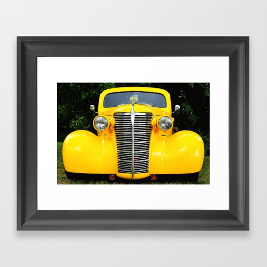 Yellow Chevy Framed Art Print