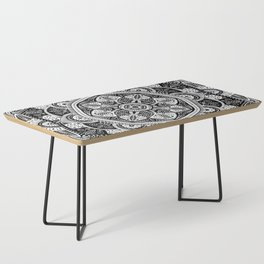 Black and White Mandala Pattern 011 Coffee Table