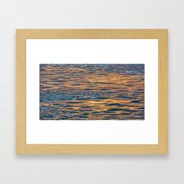 Last Light on the Water Framed Art Print