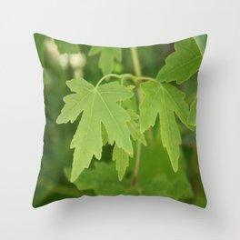 Amber Orientalis Leaves Throw Pillow