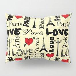 Paris text design illustration Pillow Sham