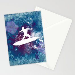 Sport, surfboarder Stationery Cards