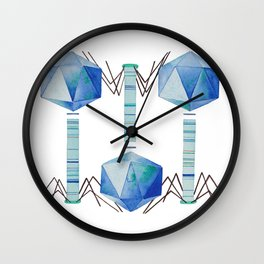 Bacteriophage 2, Science art, science, virus, microbiology, virology, geekery, science illustration Wall Clock