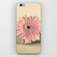 Pink flower over camera (Retro Still Life Photography)  iPhone Skin