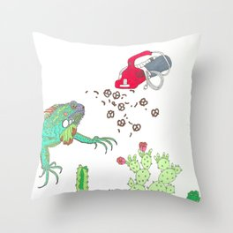 GARDEN SNACKER II Throw Pillow