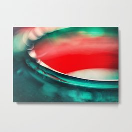Vivid red and green colorful abstract Metal Print