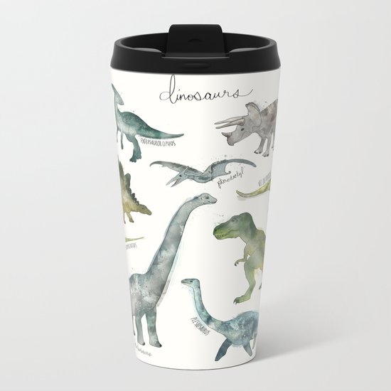 Dinosaurs Metal Travel Mug