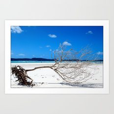 Whiteheaven Beach Art Print