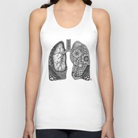 lungs Tank Tops featuring Lungs by ericajc
