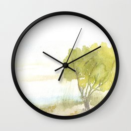 Lakeside Tree Wall Clock