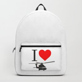 I Love Helicopters Backpack