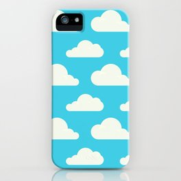 Fluffy clouds iPhone Case