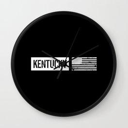 U.S. Flag: Kentucky Wall Clock
