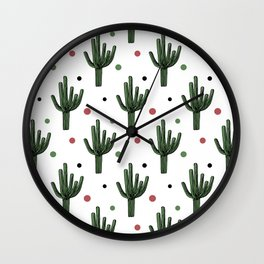 Cactus pattern Wall Clock