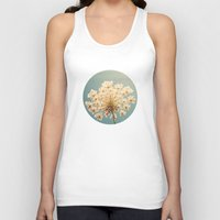 lace Tank Tops featuring Queen Anne's Lace by Cassia Beck