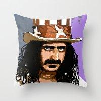 zappa Throw Pillows featuring Zappa by Saundra Myles