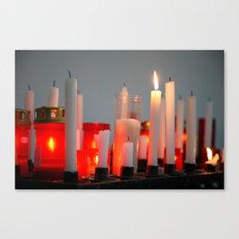 Votive wax candles Canvas Print