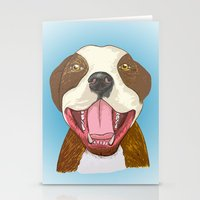 pit bull Stationery Cards featuring Pit Bull Pride by Kat Lyon
