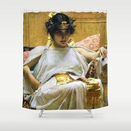 12,000pixel-500dpi - John William Waterhouse - Cleopatra - Digital Remastered Edition Shower Curtain