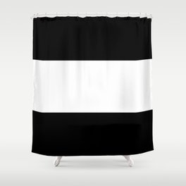 Black and white stripes Art Shower Curtain