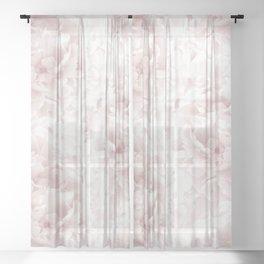 Blush Rose Peonies Dream #1 #floral #decor #art #society6 Sheer Curtain