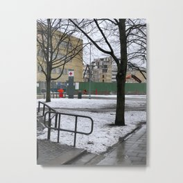 The world comes down @Malmö hospital Metal Print