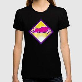 Wild Pig Razorback Jumping Side T-shirt