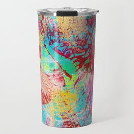 REEF STORM - Fun Bright BOLD Playful Rainbow Colors Underwater Ocean Reef Theme Coral Aquatic Life Travel Mug
