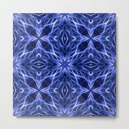 Abstract Geometric Light Factual Deep Blue Metal Print