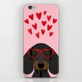 Dachshund dog breed pet art valentines day doxie must haves iPhone Skin