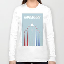 Concorde And The Red Arrows Flyover Long Sleeve T-shirt