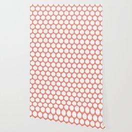 Salmon Asian Moods Ikat Dots Wallpaper