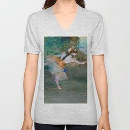 """Edgar Degas """"Dancer on stage"""" Unisex V-Neck"""