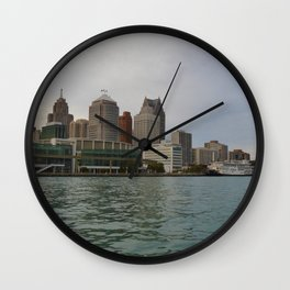 Detroit Skyline Wall Clock