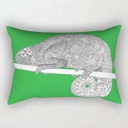 Green-Chameleon Rectangular Pillow