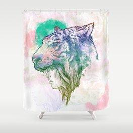TiGirl Shower Curtain