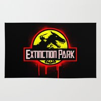 transformer Area & Throw Rugs featuring Extinction Park by emodist