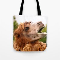 camel Tote Bags featuring Camel by GardenGnomePhotography