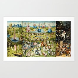 Heironymus Bosch - The Garden Of Earthly Delights Art Print