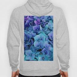 Purple Blue hydrangea Hoody