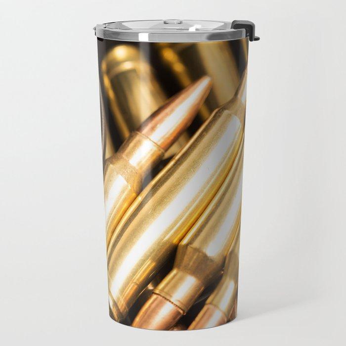 Rifle Trigger and Bullets Travel Mug